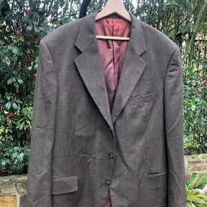 Two Button Silk//Wool Blend Gray Stripe-NWT Bertolini Men/'s Two Button Suit